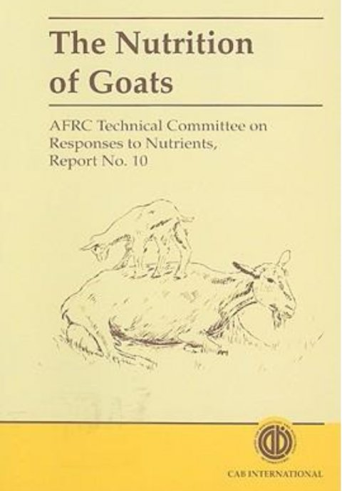 The Nutrition of Goats