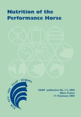 Nutrition of the Performance Horse by Editors V. Julliand and W. Martin-Rosset