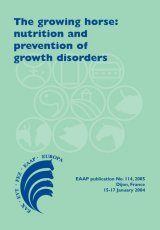 The Growing Horse: Nutrition and Prevention of Growth Disorders by Editors V. Juliand and W. Martin-Rosset